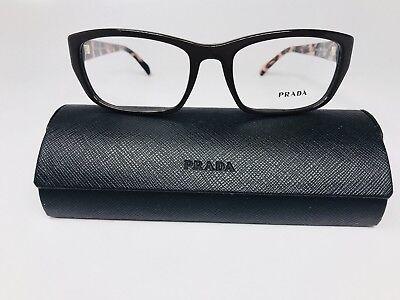 New Authentic PRADA VPR 18O DHO-101 Brown & Pink Havana Eyeglasses 54mm w/Case