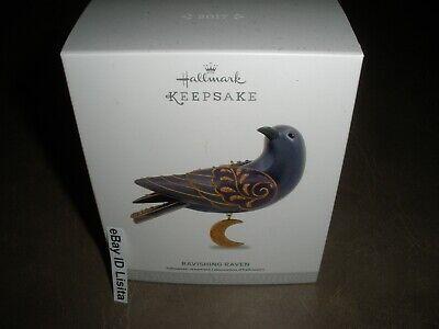 Hallmark 2017 Ravishing Raven Halloween Ornament Beauty of Birds Mint in Box!