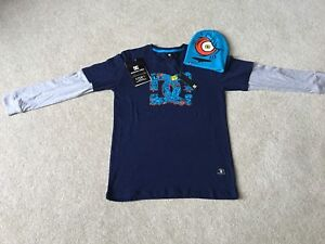 DCShoe Co. USA skateboard shirt and hat combo.(YL)