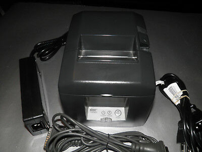 (Star Micronics TSP650 TSP654 POS Thermal Receipt Printer w Power Supply SERIAL)