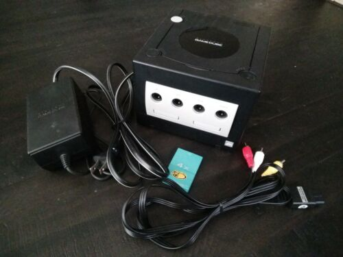 Nintendo GameCube Console Black DOL-001 W/ Memory Card And Cables - $64.00