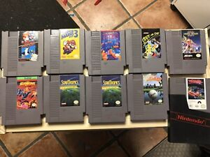 Original NES games and accessories