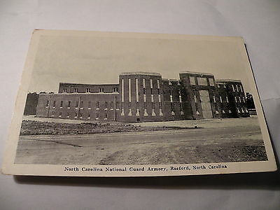 VINTAGE POSTCARD NATIONAL GUARD ARMORY RAEFORD NC PHOTO