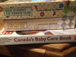 Two 'What to Expect' books and Canada's Baby Care Book all EUC