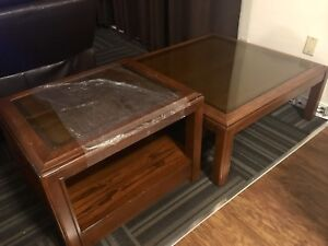 Coffee table & matching end table