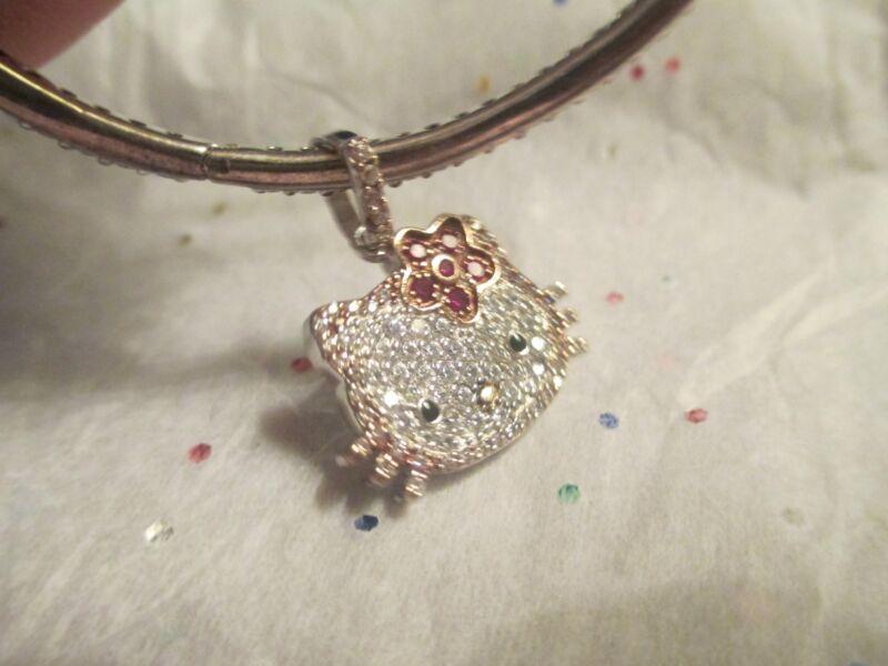 Hello Kitty cz Sterling Silver Bracelet