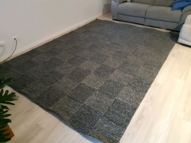 Extra Large Grey Wool Rug Rugs