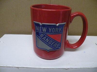 (NEW YORK RANGERS RED WITH PEWTER LOGO COFFEE MUG)