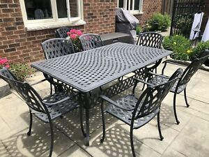 Cast Aluminum Patio Dining Table