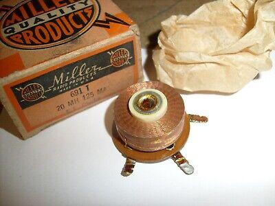 691 T- Miller Rf Choke Coil Crystal Vacuum Tube Radio Ham 20 Mh 125 Ma
