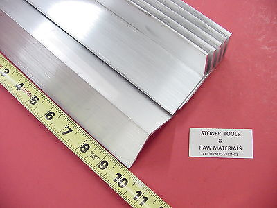 6 Pieces 2x 2x 18 Aluminum 6061 Angle Bar 10 Long T6 Extruded Mill Stock