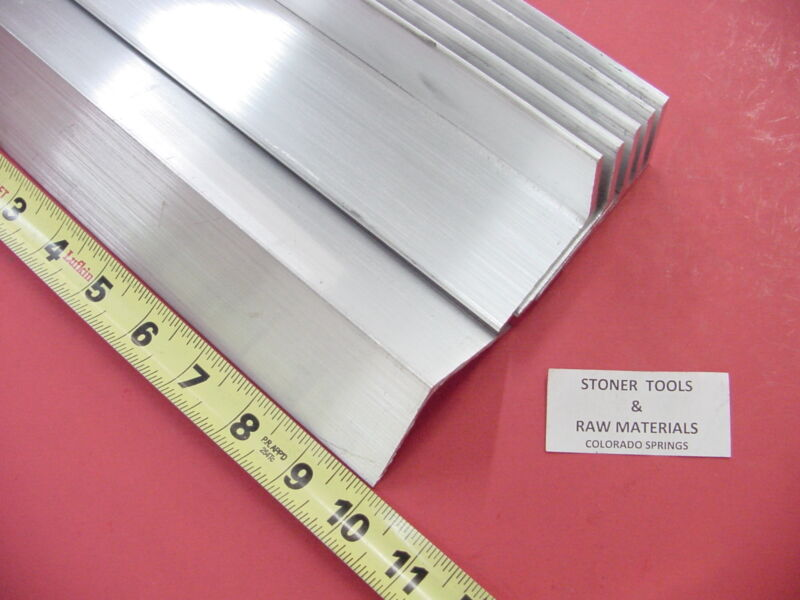 """6 Pieces 2""""x 2""""x 1/8"""" ALUMINUM 6061 ANGLE BAR 10"""" long T6 Extruded Mill Stock"""