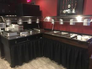 Hot Buffet table & cold buffet table