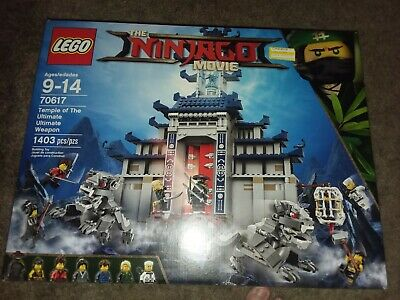 SEALED 70617 HUGE THE NINJAGO MOVIE LEGO SET TEMPLE OF ULTIMATE WEAPON MISB NEW