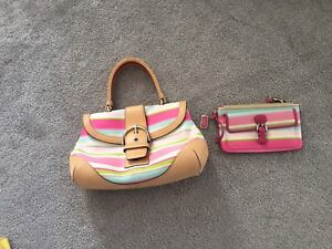 AUTHENTIC COACH PURSE AND WALLET