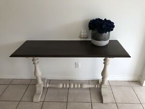 Gorgeous Farmhouse Style Refinished Vintage Console Table