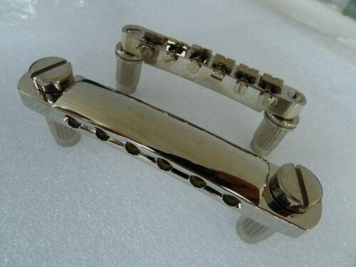 1,Epiphone Les Paul LOCKING Tune-O-Matic Bridge & Tailpiece Studs Sets Nickel