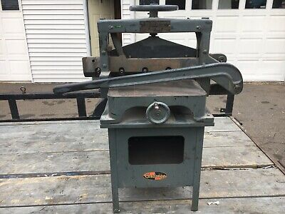 1930s Challenge Machinery Guillotine Paper Cutter Adv Model B-series Usa