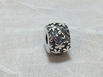 AUTHENTIC PANDORA STERLING SILVER 925 FLOWERS CLIP BEAD CHARM 790533