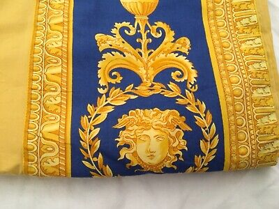 VERSACE BLUE MEDUSA FLAT SHEET BED KING ORIGINAL ITALY Authentic SALE only 1