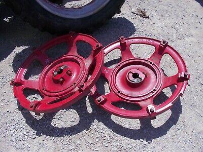 Farmall Super H Sh Tractor Ih Rear Cast Wheel Hubs Centers 6194dd 6194 Dd