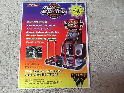 Japanese Dance Maniax Konami Arcade Game Manual Collectibles