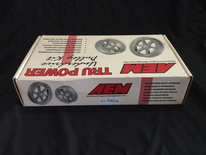 AEM 23-7004B Tru-Power Underdrive Pulley Kit w/belts- 88-1997 Fit Honda/acura