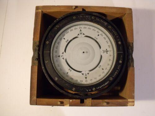 "WWII 1942 Lionel Navy Compass 6 3/4""Card Compass Mark II Navy STD Original"