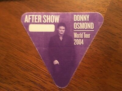 Donny Osmond - World Tour 2004 - After Show Pass - Purple