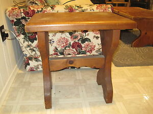 """Pair of SOLID 2"""" Pine End tables NOW $20 London Ontario image 1"""