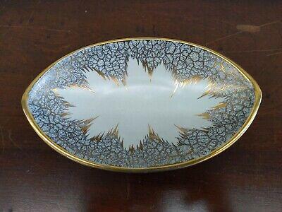 """Dumler Breiden W Germany Vtg Ceramic 9.5"""" Bowl golden color mid century modern"""