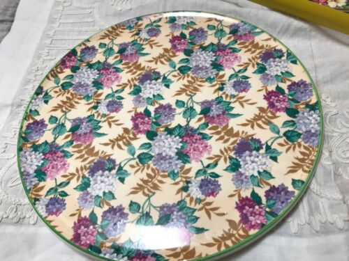 Royal Tudor Ware Chintz Hydrangas Cake Plate 11 inches excellent