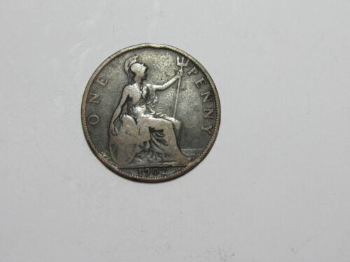 Old Great Britain Coin - 1902 Penny - Circulated