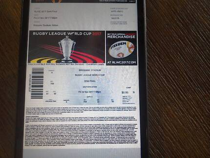 Rugby league world cup tickets Australia Vs Fiji 24th Nov!!
