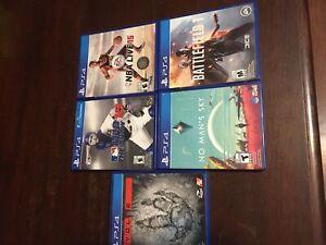 PS4 games! Battle field1, No mans sky, evolve, MLB15,NBAlive15