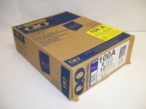 NEW UNOPENED SQUARE D SQD QO612L100SCP 6-Space 12-Circuit Indoor Breaker Panel