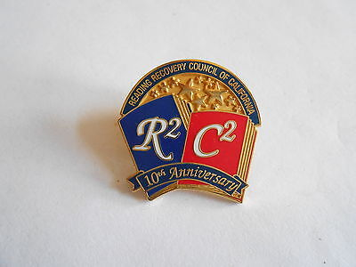 Reading Recovery Council of California 10th Anniversary Lapel Pin