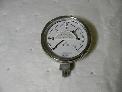 Wika Industrial Pressure Gauge 0-60 Psi 4 Dia Dry Case 14 Npt 232.54