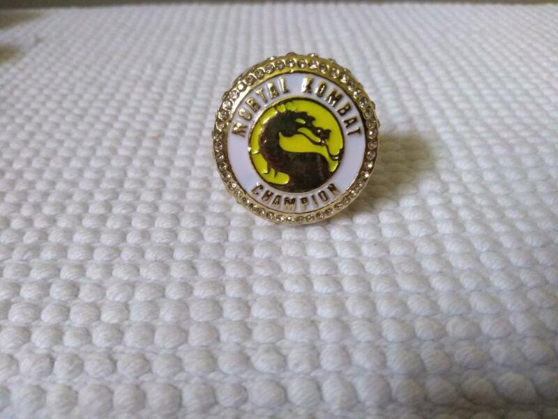 Mortal Kombat  Movie Championship Display Fan Ring sz 11 ( scorpion) Gold color