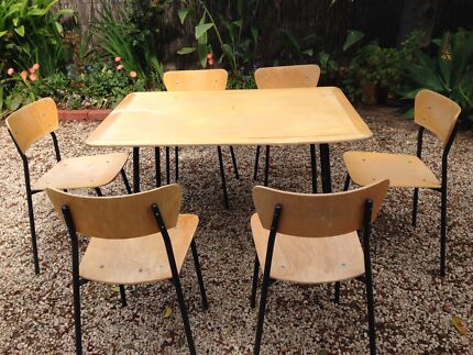 Wood and Steel Chairs Gilberton Walkerville Area Preview