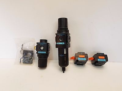 Wilkerson Pneumatic Air Filter Regulator 2 Lockout Valve T-bracket Lot