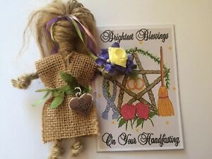 Handfasting gift kitchen witch good luck amulet traditional rustic wedding gift