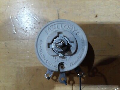 Potentiometer Rheostat Variable Power Resistor 1 K Ohm 50 Watt Mallory