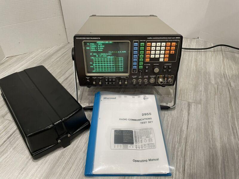 Marconi 2955 Communications Service Monitor 2-Way Radio Analyzer Test Set