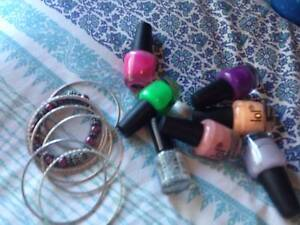 Nail polish and bracelets Withers Bunbury Area Preview