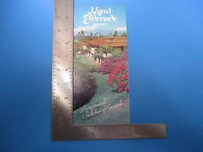 Vintage Maui Eldorado Resort Tourist Brochure Pamphlet Hawaii S6891