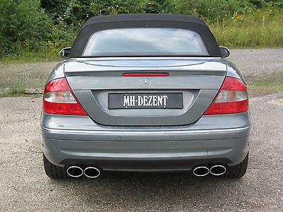 MH-DEZENT 4 Rohr Sportauspuff  V8 Mercedes CLK 500   AMG W209