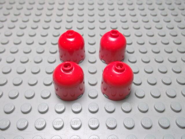 Lego 4 Rundsteine Kappe 2x2x1 rot  30151  Set 7898 7994 6456 7905