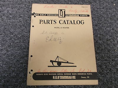 Letourneau Model S3 Rooter Parts Catalog Manual