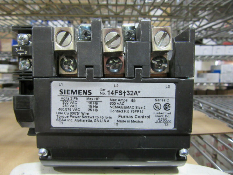 SIEMENS CONTACTOR 42EF35AFAIM 600V 60A 75A//RES 30HP BRAND NEW IN BOX F//PRI-SHIP!